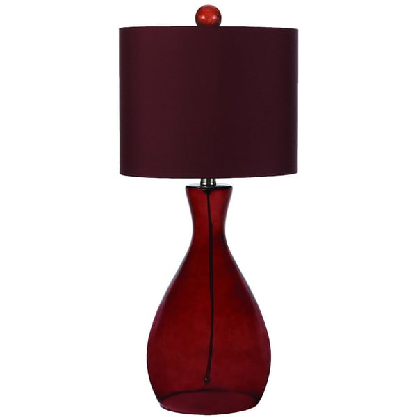 AF Lighting Royal Red 8519-TL Mercer Hand-Blown Glass Table Lamp