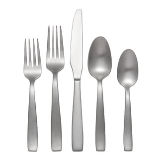 Everdine brushed stainless steel flatware set (45 piece set)