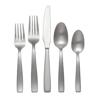 Oneida Everdine Brushed Stainless Steel Flatware Set (45 piece) - Silver
