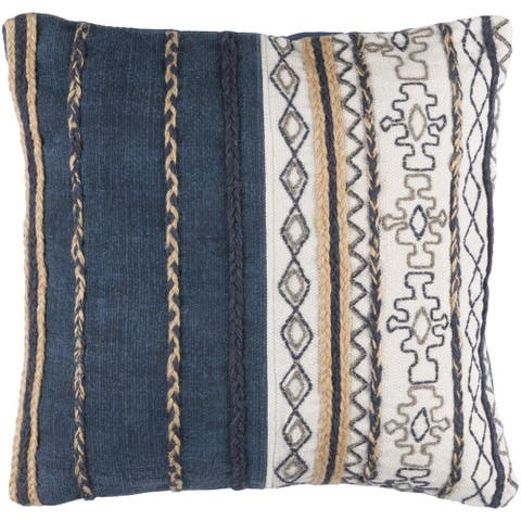 Decorative Bostwick 30-inch Poly or Feather Down Filled Throw Pillow