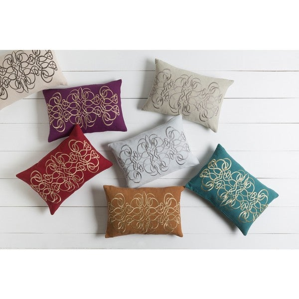 Decorative Norwalk Poly or Feather Down Filled Throw Pillow (13 x 20)