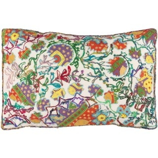 Decorative Carcassonne Poly or Down Filled Throw Pillow (22 X 14)