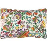 Decorative Carcassonne Poly or Feather Down Filled Throw Pillow (22 X 14)