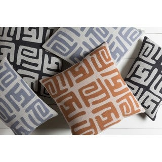Decorative Abington Poly or Feather Down Filled Throw Pillow (13 x 19)