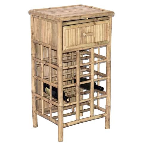 Handmade Bamboo54 34-inch Bamboo Wine Tower (Vietnam)