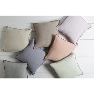 Decorative 18-inch Prater Poly or Feather Down Filled Pillow