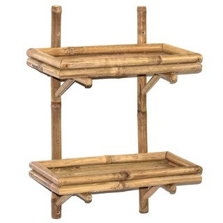 Handmade Bamboo54 Double Wall Bamboo Shelf (Vietnam)