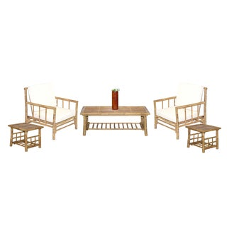 Chai 6-piece Natural Bamboo Patio Set (Vietnam)