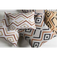 Decorative Akio Poly or Feather Down Filled Throw Pillow (13 x 19)