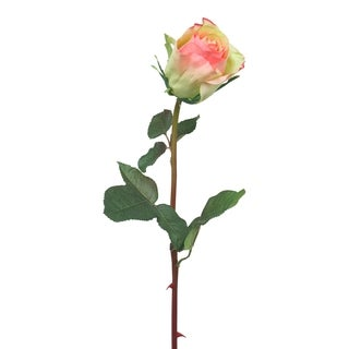 White/ Pink 24-inch Rose Spray (Pack of 6)