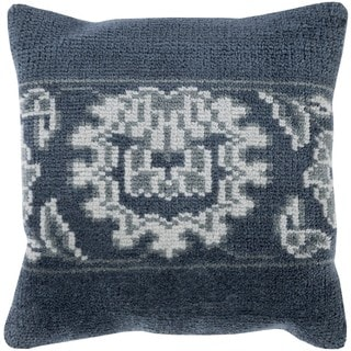 Decorative Alessandra 18-inch Poly or Down Filled Throw Pillow
