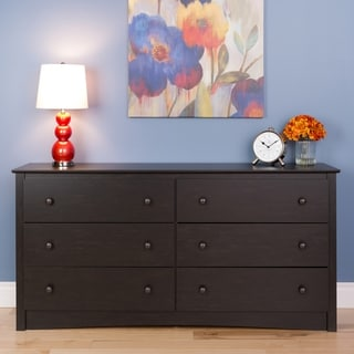 Broadway Washed Black 6-drawer Chest