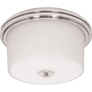 Nuvo Lighting Jet Satin White 2-light Halogen Flush Mount