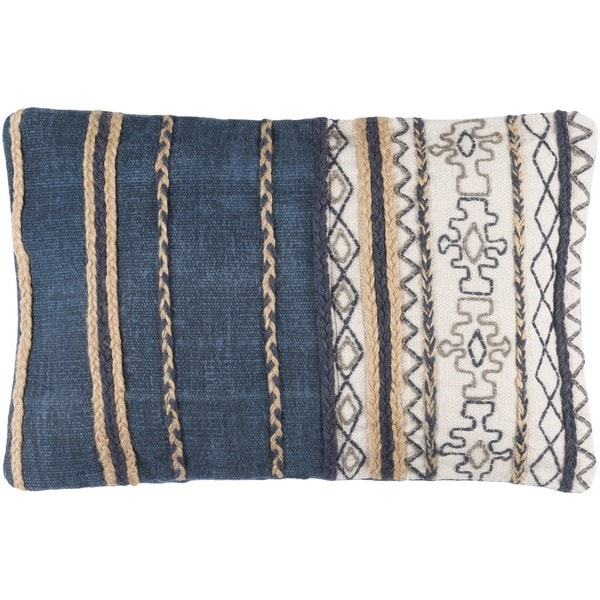 Decorative Bostwick Poly or Down Filled Throw Pillow (22 X 14) - Free Shipping Today - Overstock ...