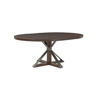 Saloom Cambridge 48-inch Round Burnt Oak Dining Table