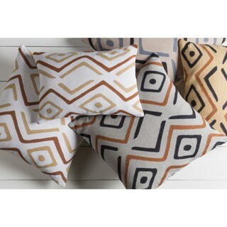 Decorative Akio 20-inch Poly or Down Filled Throw Pillow