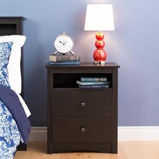 Steveston Washed Black 2-drawer Nightstand