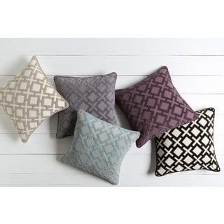Decorative Oxnam 18-inch Poly or Down Filled Throw Pillow