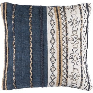 Decorative Bostwick 20-inch Poly or Feather Down Filled Throw Pillow