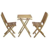 Handmade Bistro Small Bamboo Table and Chairs Set (Vietnam)