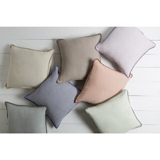 Decorative 20-inch Prater Poly or Feather Down Filled Throw Pillow