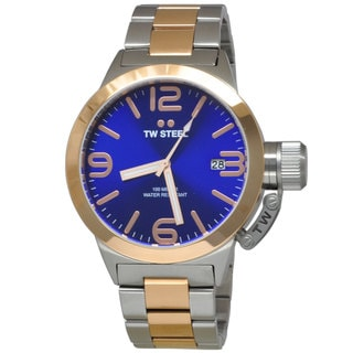 TW Steel Men's CB141 Canteen Blue Watch
