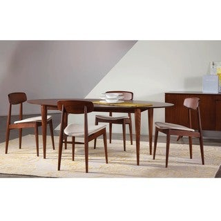 Saloom Cona 42 x 80 Ellipse Maple Smooth Top Dining Table in Chestnut Finish