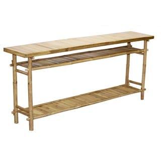 Handmade Bamboo54 Long Sofa/Hallway Table (Vietnam)