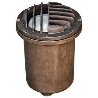 Valdivia 1-Light Outdoor Bronze Well Light