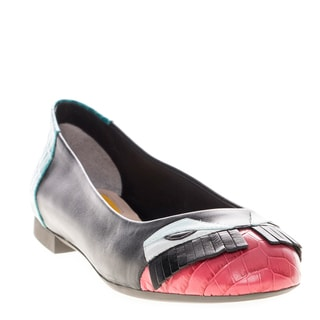 Fendi Women's Monster Leather Flats