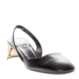 Gucci Sling Back Half-Moon Shaped Low Pump