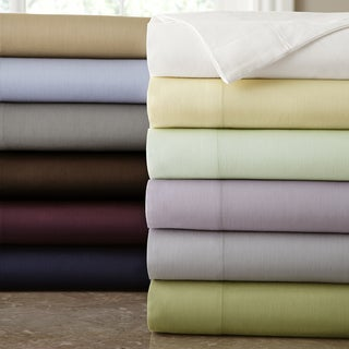Amrapur Overseas 200 Thread Count Cotton 4-Piece Solid Sheet Set