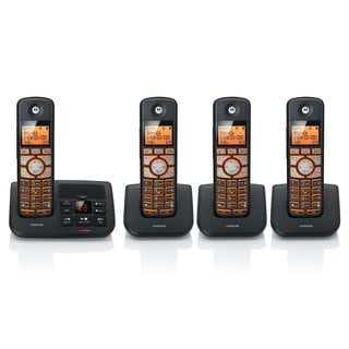 Motorola K704B Cordless Big Backlit Button Phone with 4 Handsets/ Caller ID and Answering System