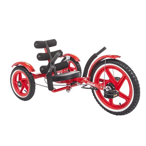 Mobo Mobito Sport The Ultimate Three Wheeled Youth Cruiser in Red