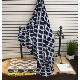 Anna Ricci Geometric Velvet Plush Heavy Fleece Throw