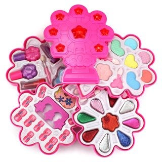Fashion Girl Deluxe Pink Bouquet Toy Make Up Case Kit