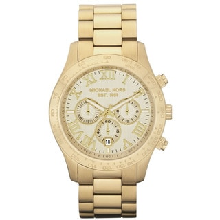 Michael Kors Women's Goldtone Stainless Steel Layton Chronograph Watch