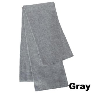 Premium Rugby Knit Scarf ( 1 Piece) (Option: Grey - Solid)