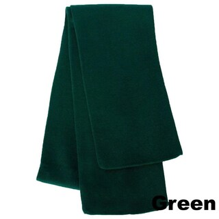 Premium Rugby Knit Scarf ( 1 Piece) (Option: Green - Solid)