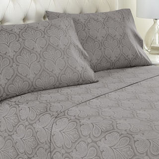 Amrapur Overseas Paisley Printed 4-piece Sheet Set