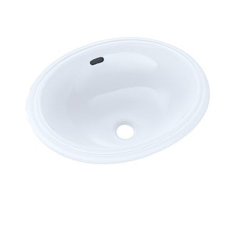 "Toto Oval 15"" x 12"" Narrow Undermount Bathroom Sink LT577#01 Cotton White"
