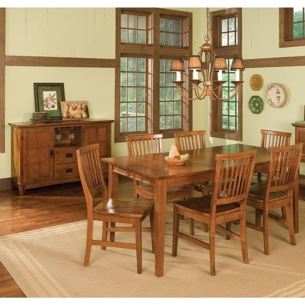 Arts and Crafts 7-piece Rectangular Dining Set by Home Styles ...