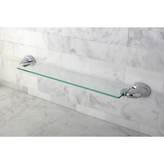 Chrome Bathroom Glass Shelf - Silver