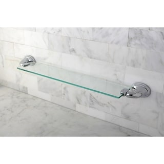 Chrome Bathroom Glass Shelf