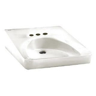 American Standard Wall-Mount Porcelain 27.00 20.00 Bathroom Sink 9141.011.020 White