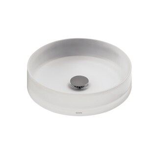 Toto Luminist Vessel Resin 15.750 15.750 Bathroom Sink LLT150#61 Frosted White