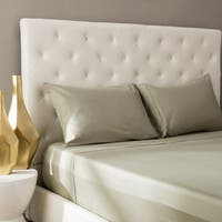 Rizzy Home Ogee Hemstitch 400 Thread Count Solid Sage Cotton Sheet Set