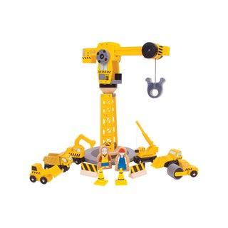 Bigjigs Toys Big Crane Construction Set