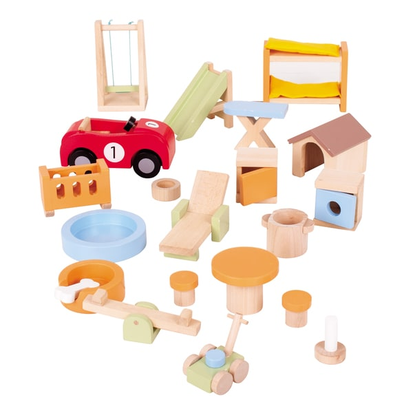 Bigjigs Toys House and Garden Doll Furniture