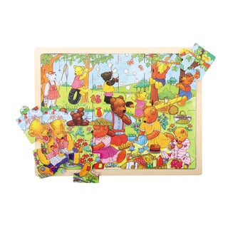 Bigjigs Toys 24 Piece Teddy's Picnic Puzzle
